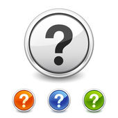 Question button in four colors — Vecteur