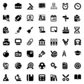 School iconset black — Stock Vector
