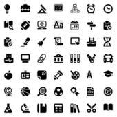 School iconset black — Stock Vector