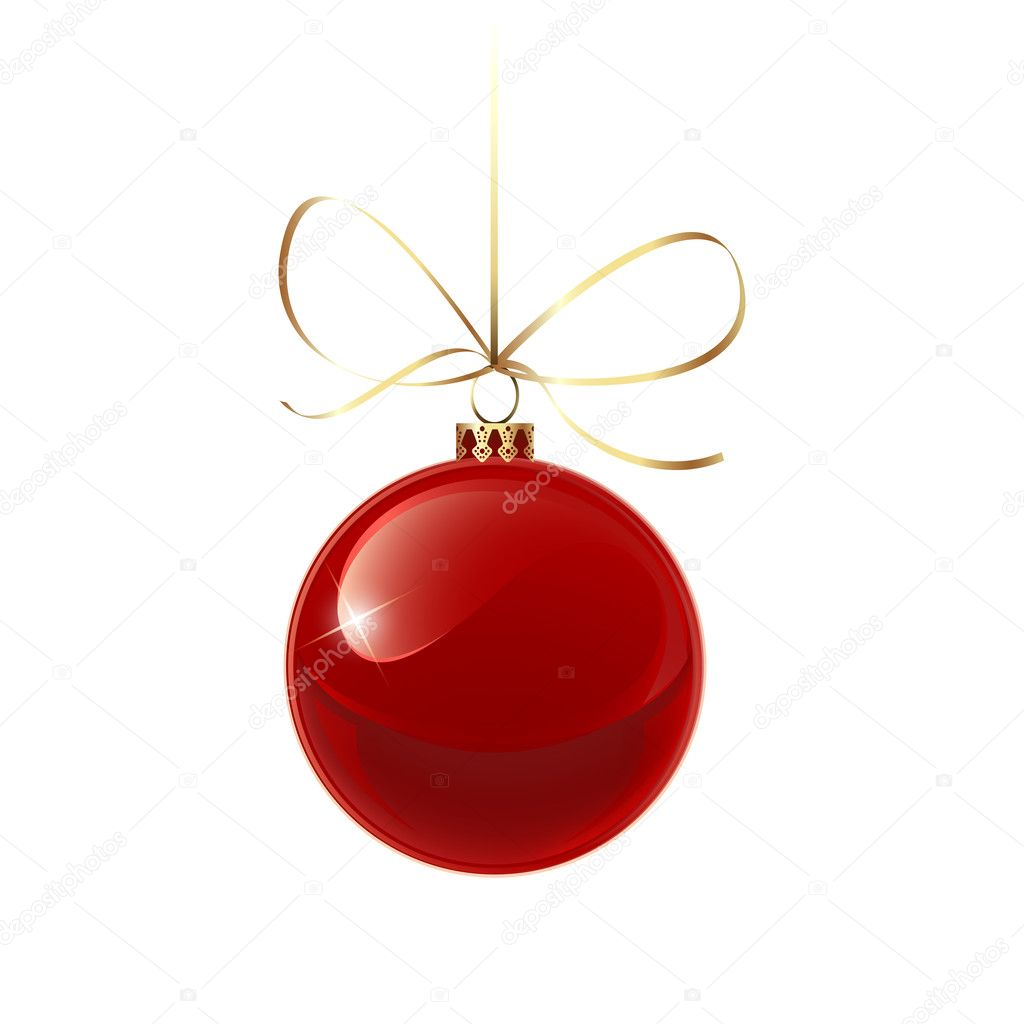 Christmas red bauble stock vector 169 art co 33750767