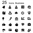 25 basic iconset business — Stock Vector