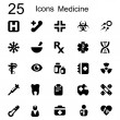 Stock Vector: 25 basic iconset medicine