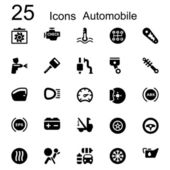 25 basic iconset automobile — Stock Vector