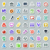 School iconset flat colorful sticker — Stock Vector