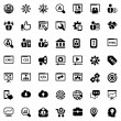 Iconset seo black — Stock Vector