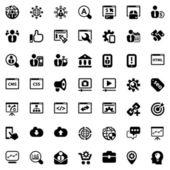 Iconset seo black — Stok Vektör