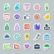 Stock Vector: 25 basic iconset business, sticker