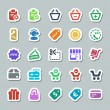 25 basic iconset shopping sticker — Stok Vektör