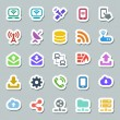 Stock Vector: 25 basic iconset communication, siticker