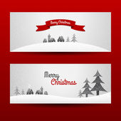 Two christmas banners — Stock Vector