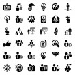 Stock Vector: Iconset business people black