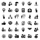 Iconset business people black — Stock Vector