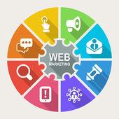 Web marketing — Stock Vector