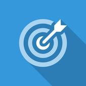 Icon dartboard flat — Stock Vector