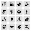 Stock Vector: Flat business iconset