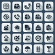 Flat iconset logistics — Stock Vector