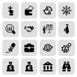 Stock Vector: Flat business iconset 2