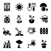 Garden iconset — Stock Vector