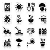 Garden iconset with reflex — Stock Vector