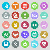 Fitness & health iconset colorful — Stock Vector