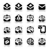 Envelope iconset with reflex — Vector de stock