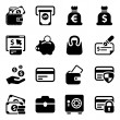 Stock Vector: Money iconset
