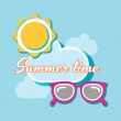 Summer time background — Stock Vector