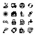 Flat icons ecology set1 — Stock Vector #43285605