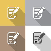 Agreement set backgrounds — Stock Vector