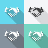 Flat handshake backgrounds — Stock Vector