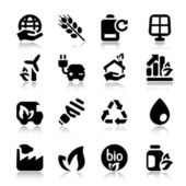 Flat icons ecology set2 with reflex — Stock Vector