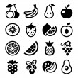Fruits iconset — Stock Vector