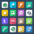 Flat icons ecology set1 colorful — Stock Vector #50709455