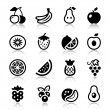 Fruits iconset with reflex — Stock Vector #50922025