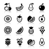 Fruits iconset with reflex — Stock Vector