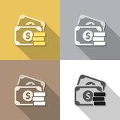 钱设置背景 — 图库矢量图片