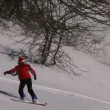 Stock Video: Snowboarder