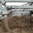 Stock Video: Plows Cultivating Field