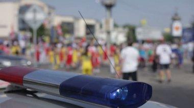 Police Car Lights — Stock Video