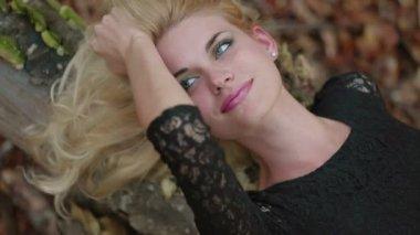 Sexy Blonde Flirting — Stock Video