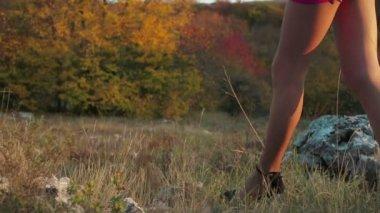 Woman Walking in High Heels — Stock Video
