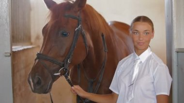 Horsewoman — Stock Video