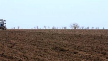 Rural Tractor — Стоковое видео