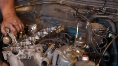 Car repairing. Auto Repair Shop. Automobile service. — Stock Video