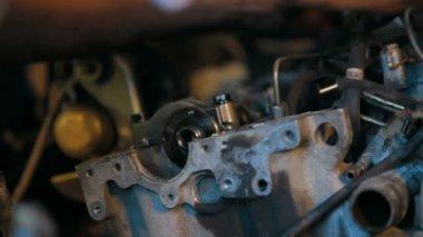 Car repairing. Auto Repair Shop. — Stock Video