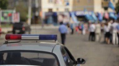 Police Car Control — Stock Video