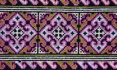 カラフルなタイ ペルー風の敷物の表面のクローズ アップ. — ストック写真