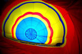 Multi colored hot air balloon view from inside — Stock Photo