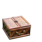 Vintage Old Bamboo Box — Stock Photo