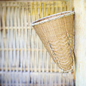 Vintage weave wicker basket — 图库照片